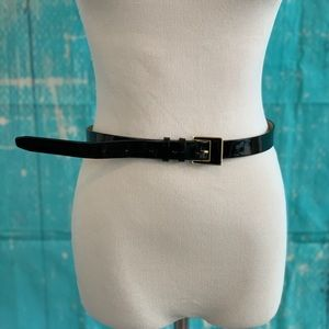 Cole Haan black patent leather shiny belt